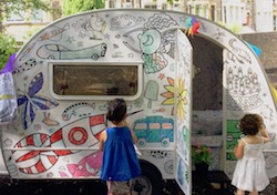 Eggnogg takes its colour-in caravan to The Big Feastival