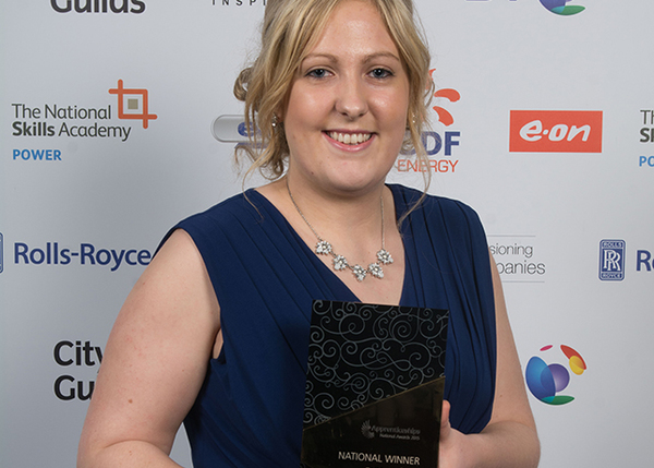 Kathleen celebrates the ultimate success for The Community Housing Group at the National Apprenticeship Awards