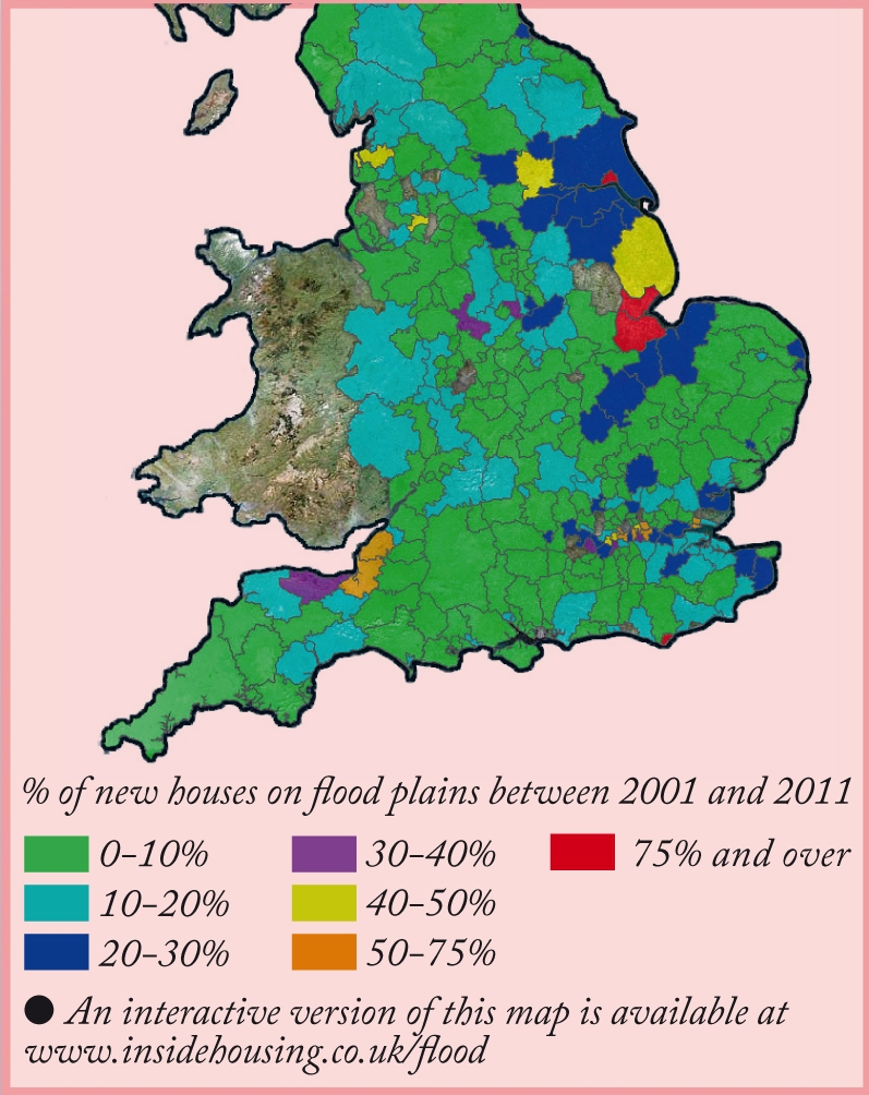 Flood Risk Map Uk Inside Housing   Insight   Hell and high water