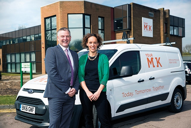 Kathryn Eames' head of regeneration at YourMK, with Colin Middlemass' COO of Mears