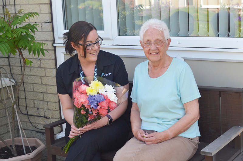A Fortem staff member visits a resident in Rotherham
