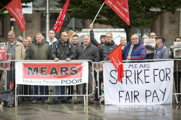 Mears workers to escalate strike