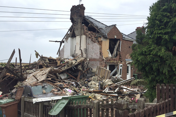 The home in Ryhope, Sunderland. Pictures: Tyne & Wear Fire & Rescue Service