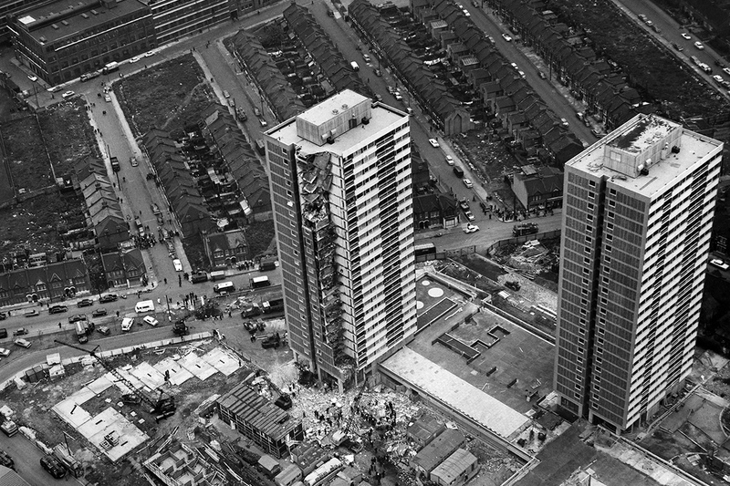 The aftermath of the Ronan Point collapse in 1968. Picture: Alamy