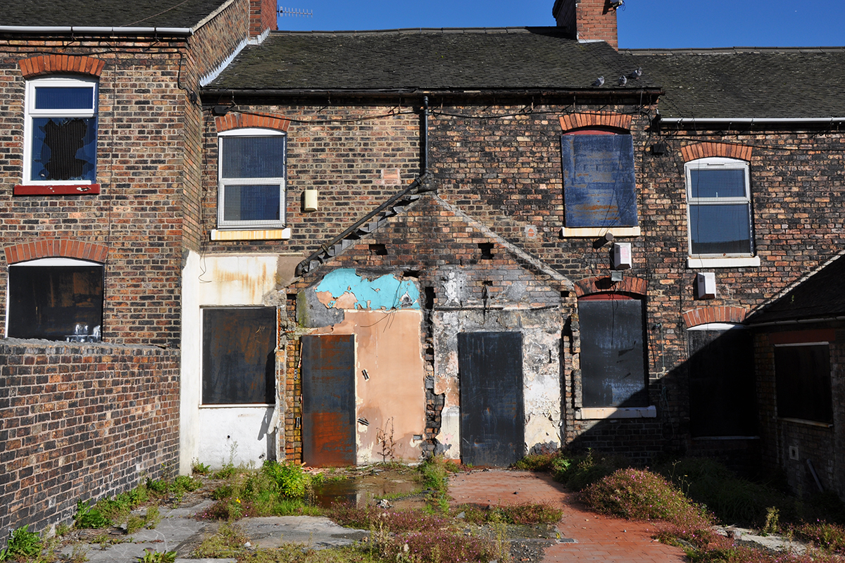 Boarded Up Houses In Stoke