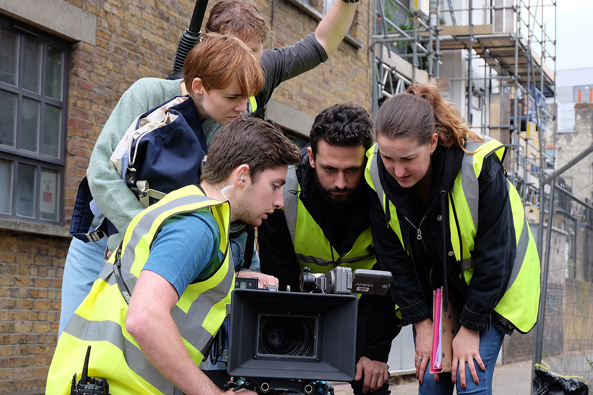 On the set of a new film about homelessness funded by the sector