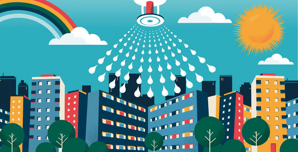 Which councils are retrofitting high rises with sprinklers?