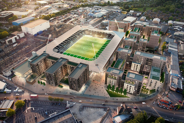 CGI of Catalyst and Galliard development Picture: AFC Wimbledon