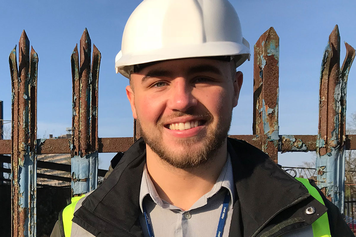 Oliver Harling, trainee neighbourhood surveyor, Irwell Valley Housing Association