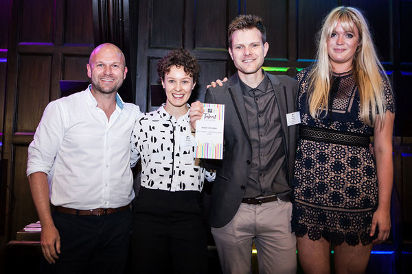 Jon Squire, group production editor (second from right) & Lucy Brown, sub-editor (second from left)