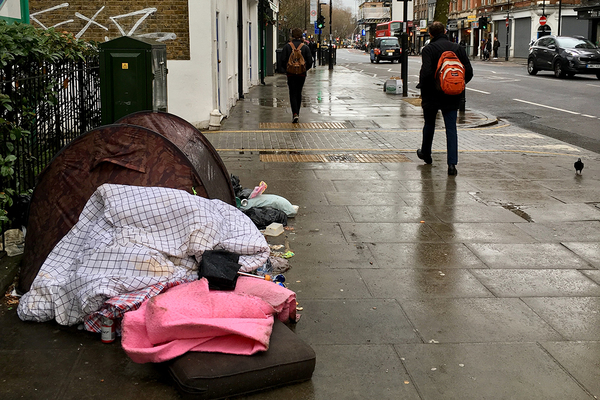 Snapshot figures show rough sleeping numbers fell by over a third during pandemic