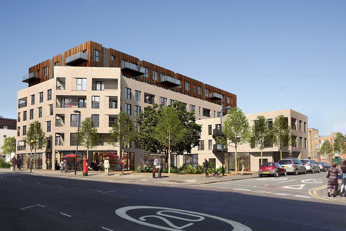 The Newington Gate development will deliver new homes in Newington Green, London