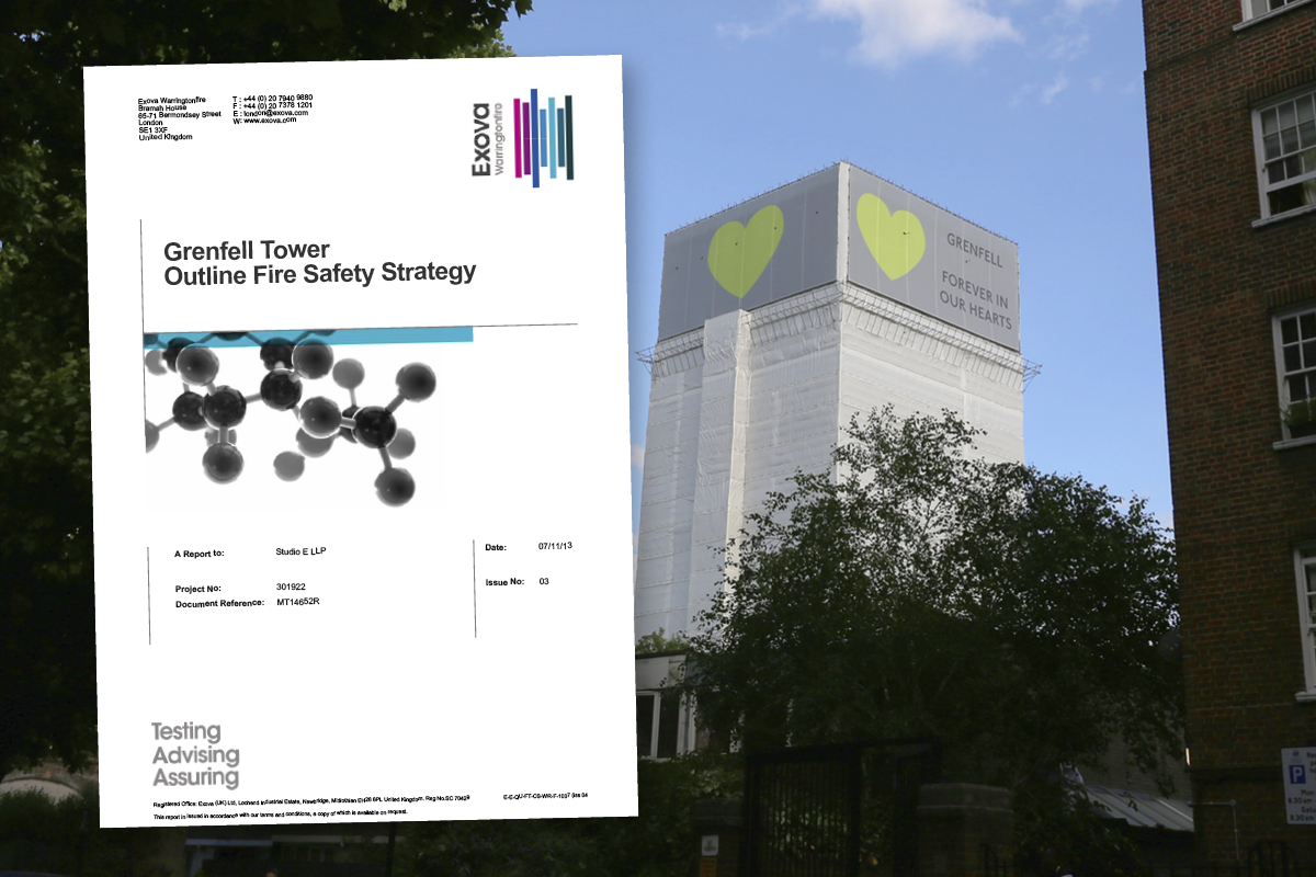 Expert fire report for Grenfell based on plans which did not include cladding, document reveals