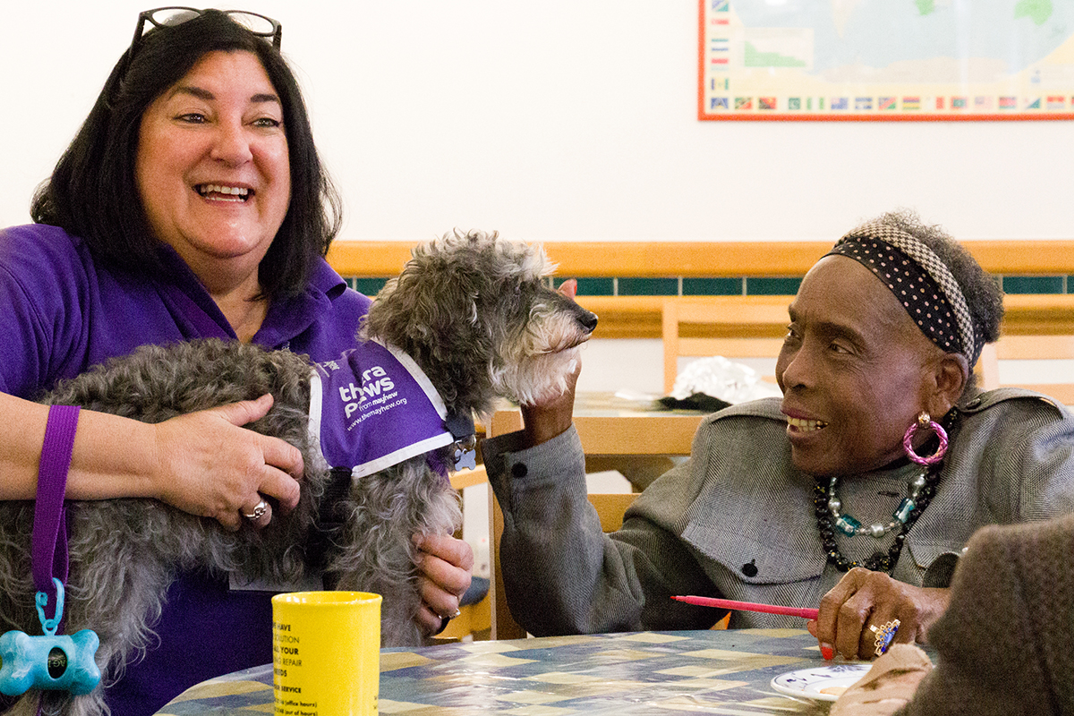 Cafe society: supporting residents with dementia