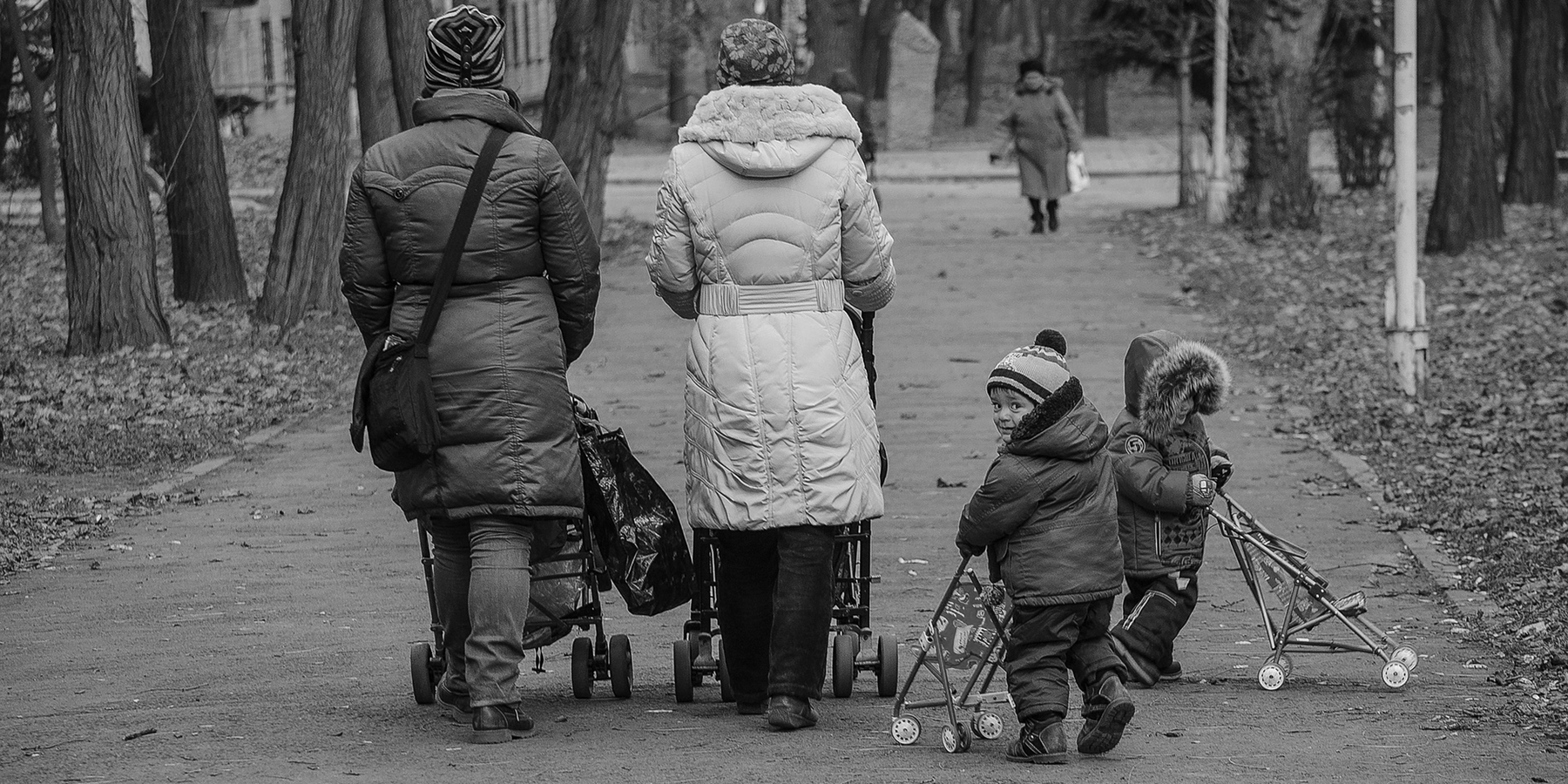 Walking with pushchairs