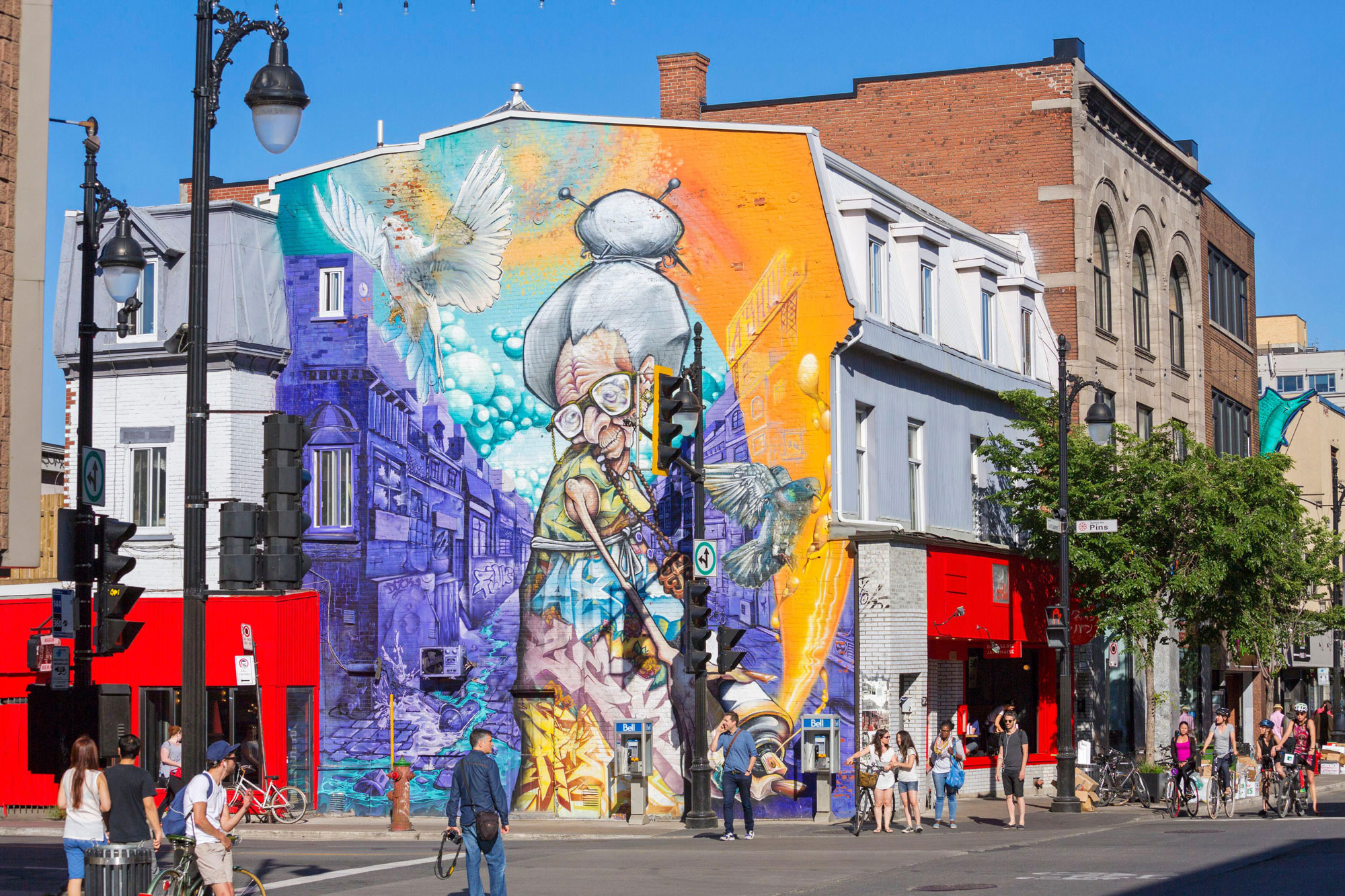 'Granny' by A'Shop from Montreal's Mural Festival 2013. Photo: Renault Philippe/Alam