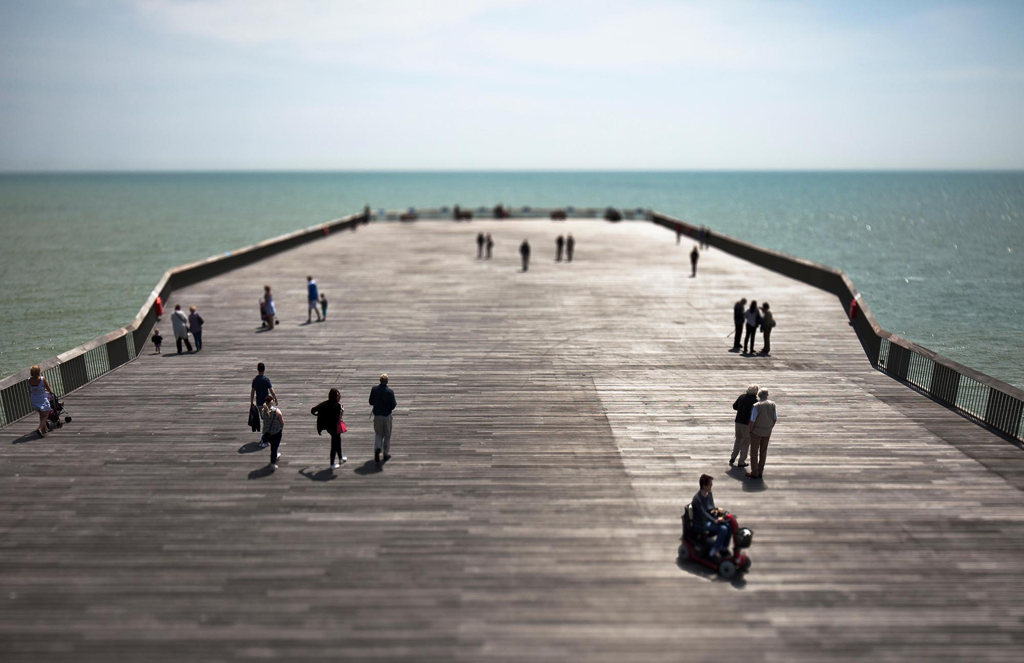Hastings pier won the Stirling Prize in October and went bust in November Photo:Alamy