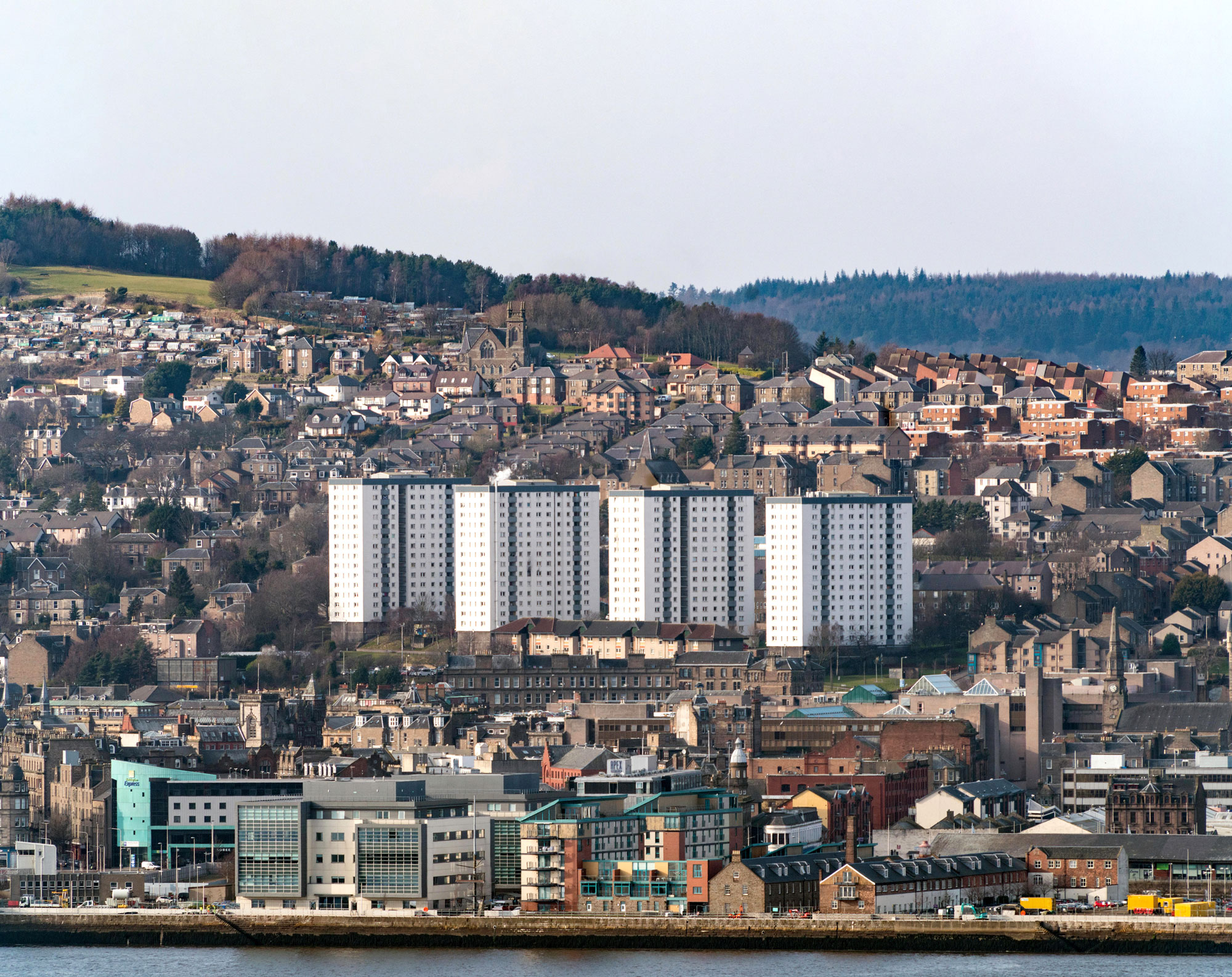 Four Hilltown tower blocks were among the first things to be demolished Photo: Iain Masterton/Alamy