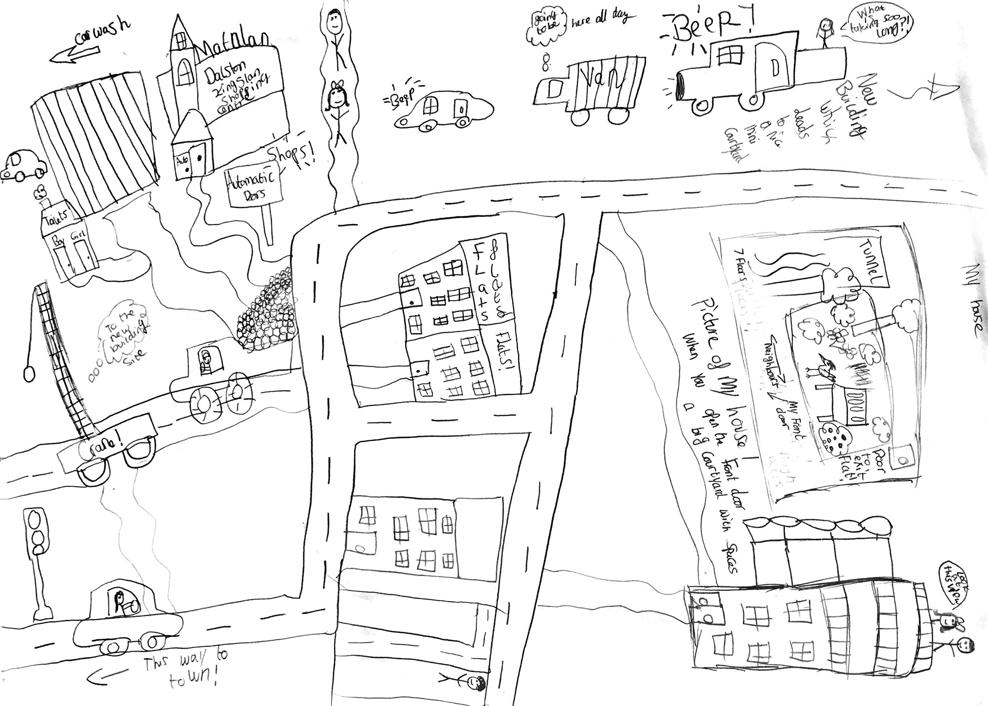 Map-drawing exercise reveals a pupil's view of Hackney