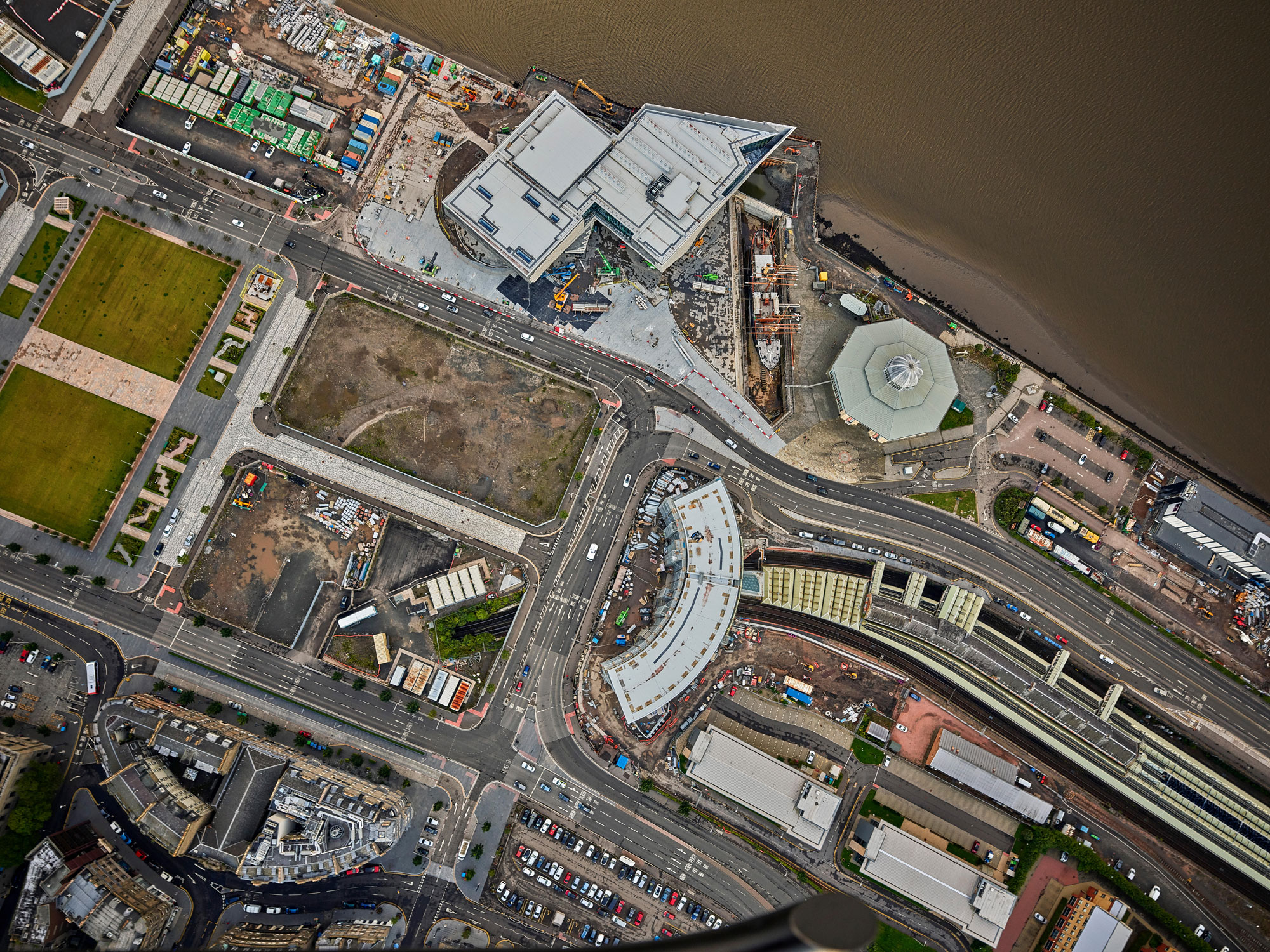 Aerial view of the V&A at Dundee under construction Photo: Alamy