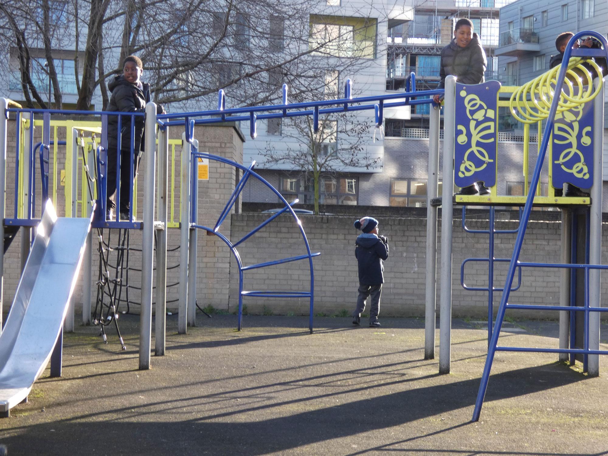 "Slides and swings are ""boring"" for older children"