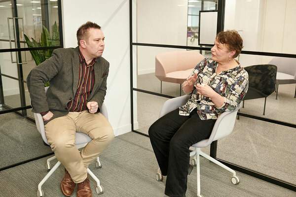 Challenging housing's status quo: innovator Paul Taylor meets tenant campaigner Lizzie Spring