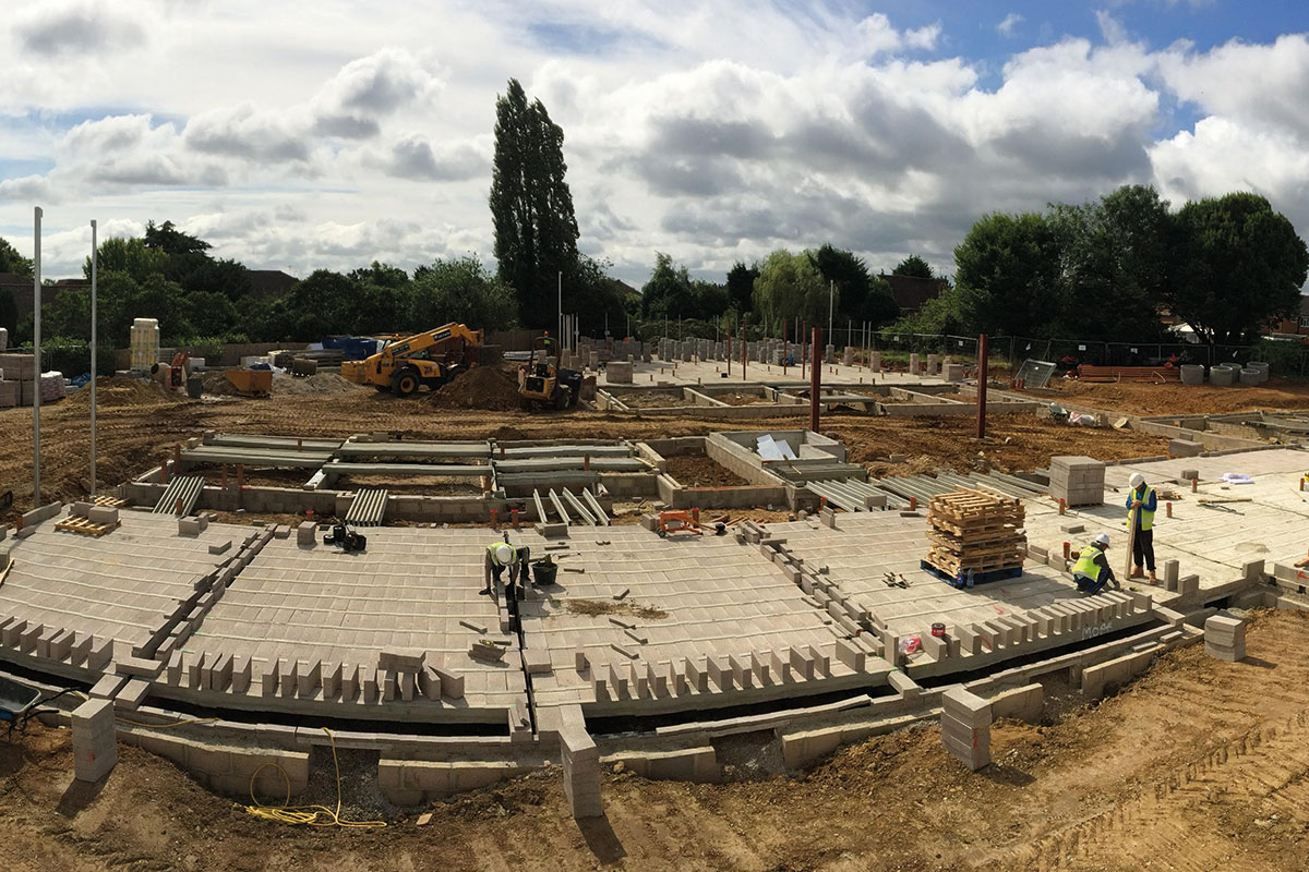 Wokingham Housing's Fosters scheme under construction