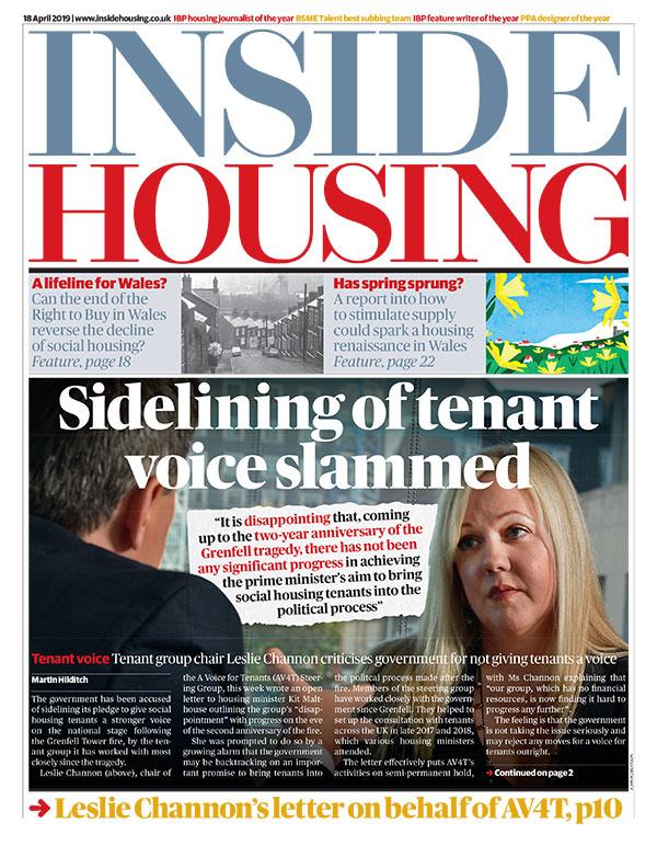 Inside Housing Digital Edition - 18 April 2019