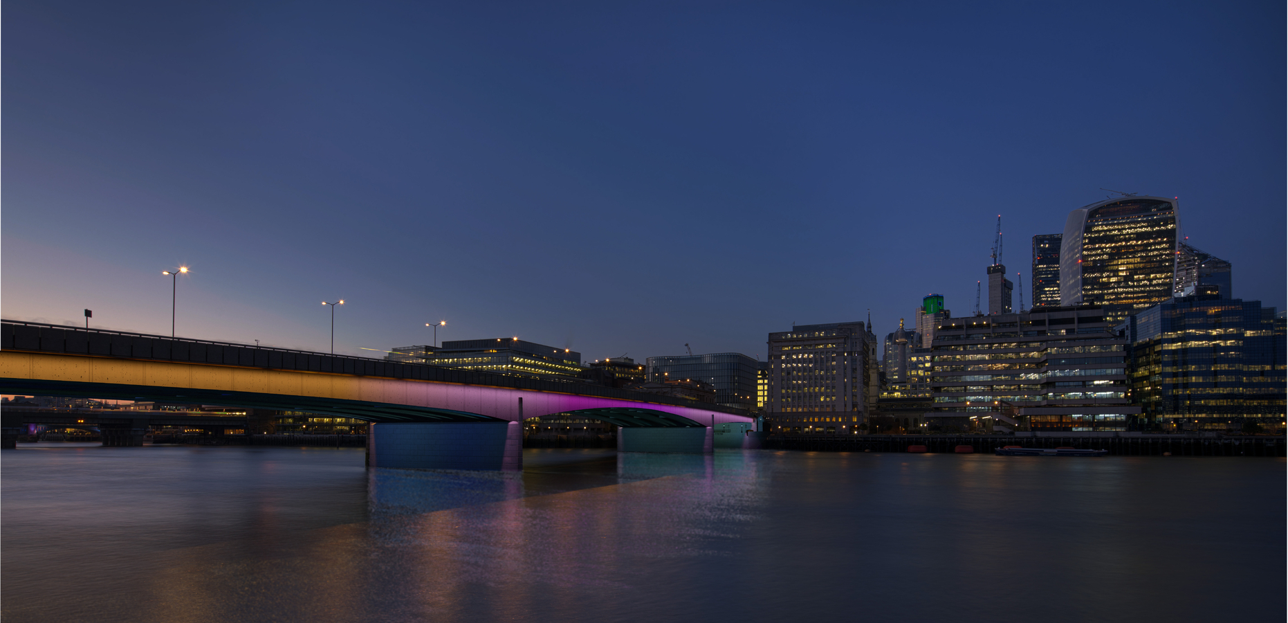 London Bridge highlights as seen from the Southbank