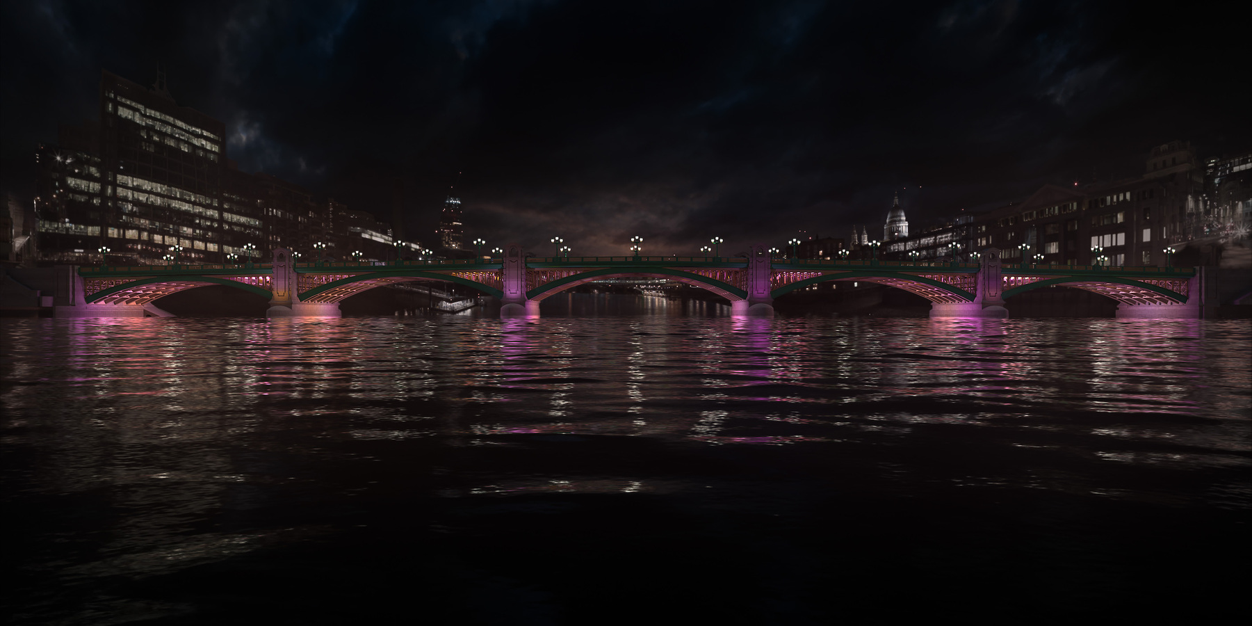 Southwark Bridge is part of the first phase and will be completed by the summer