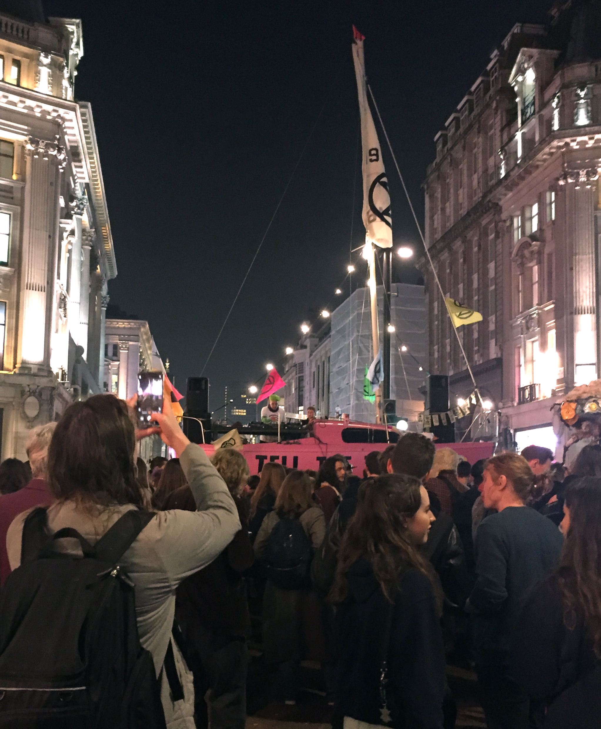 Forget Fabric, Oxford Street makes a brilliant dance club with a DJ booth in a pink sailboat