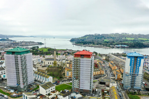 How to make blocks with Grenfell-style cladding safe: the story of three towers in Plymouth