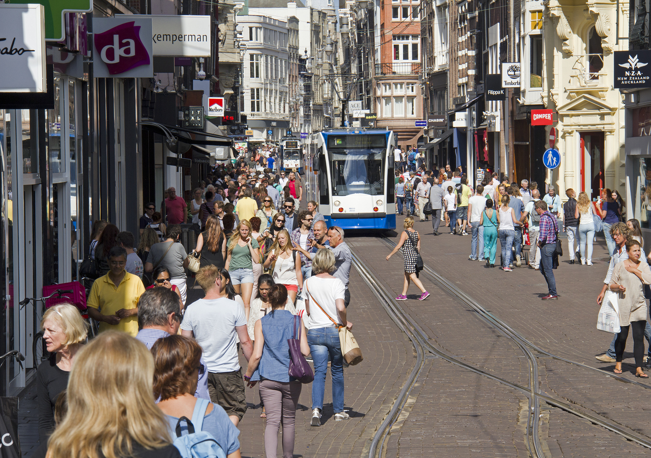 Amsterdam has 14 tram routes and up to 400km of cycling paths