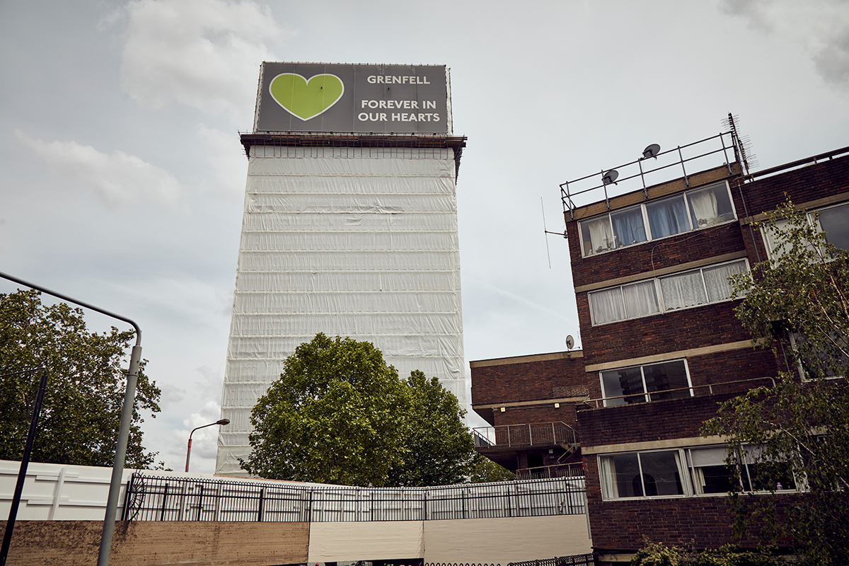Grenfell Tower rewrapping paused due to coronavirus safety guidance