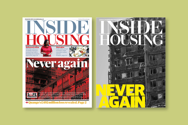 Inside Housing's front pages in 2009 after the Lakanal House fire and 2017 after Grenfell