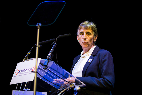 Terrie Alafat, former chief executive of the CIH, speaking at Housing 2019 (picture: Guzelian)