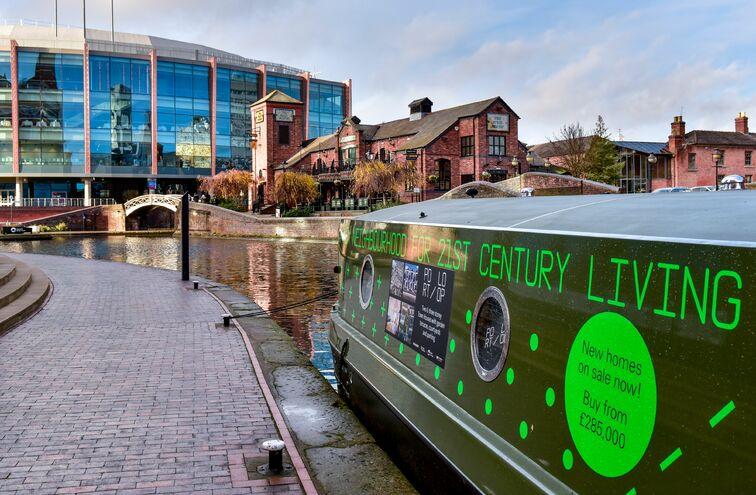 1.5km of tow path has been unlocked along Birmingham's Port Loop