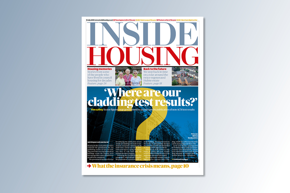 19 July digital edition of Inside Housing out now
