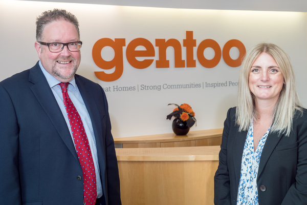Gentoo chief executive Nigel Wilson with new development director Joanne Gordon