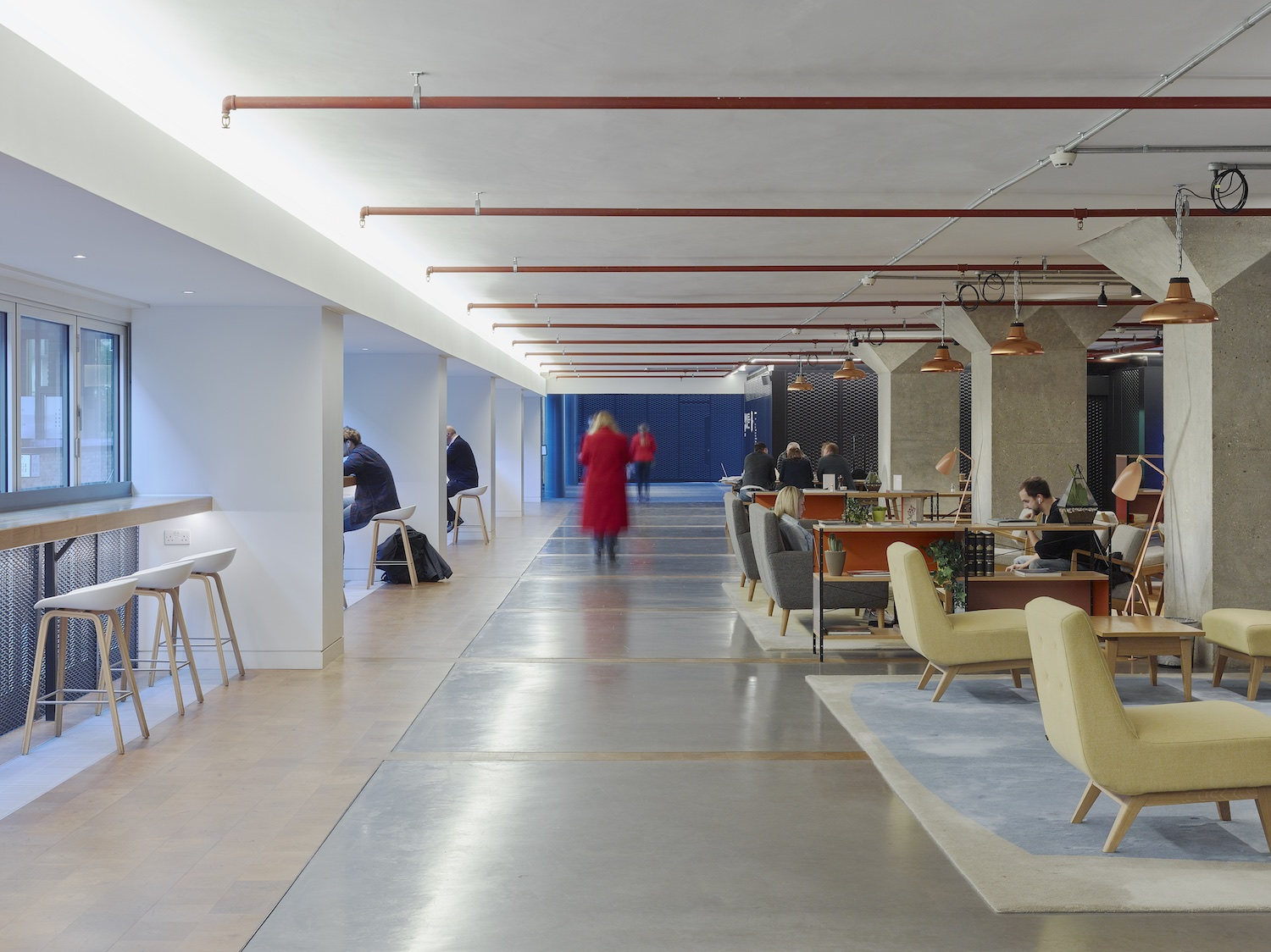 The columns are a reminder of a more cellular approach to office space (photo: Tim Soar)