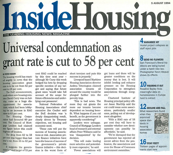 Inside Housing - Insight - From the archive – threat of ALMOs taking