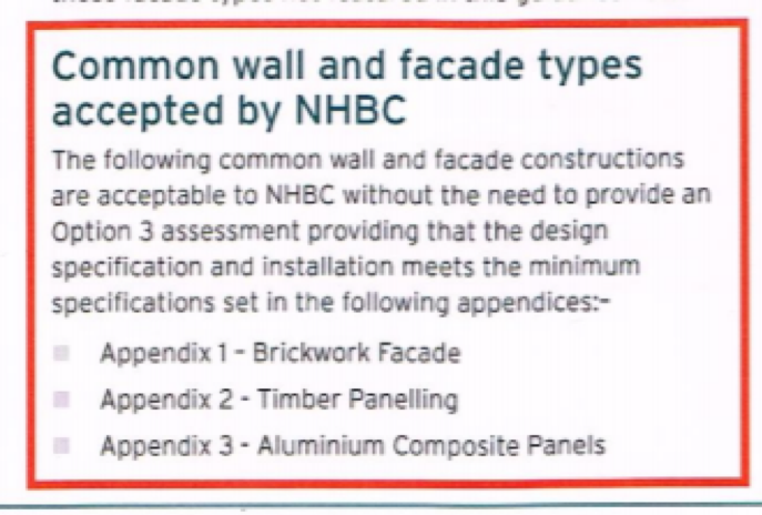 A clip from the now-withdrawn NHBC guidance note