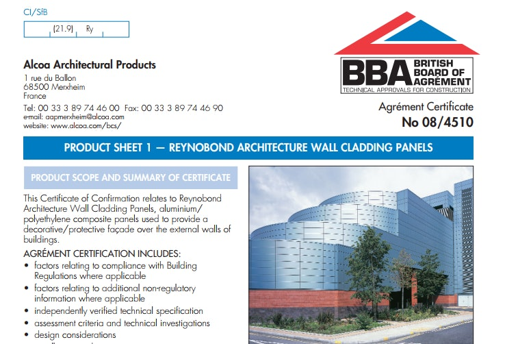 The BBA certificate