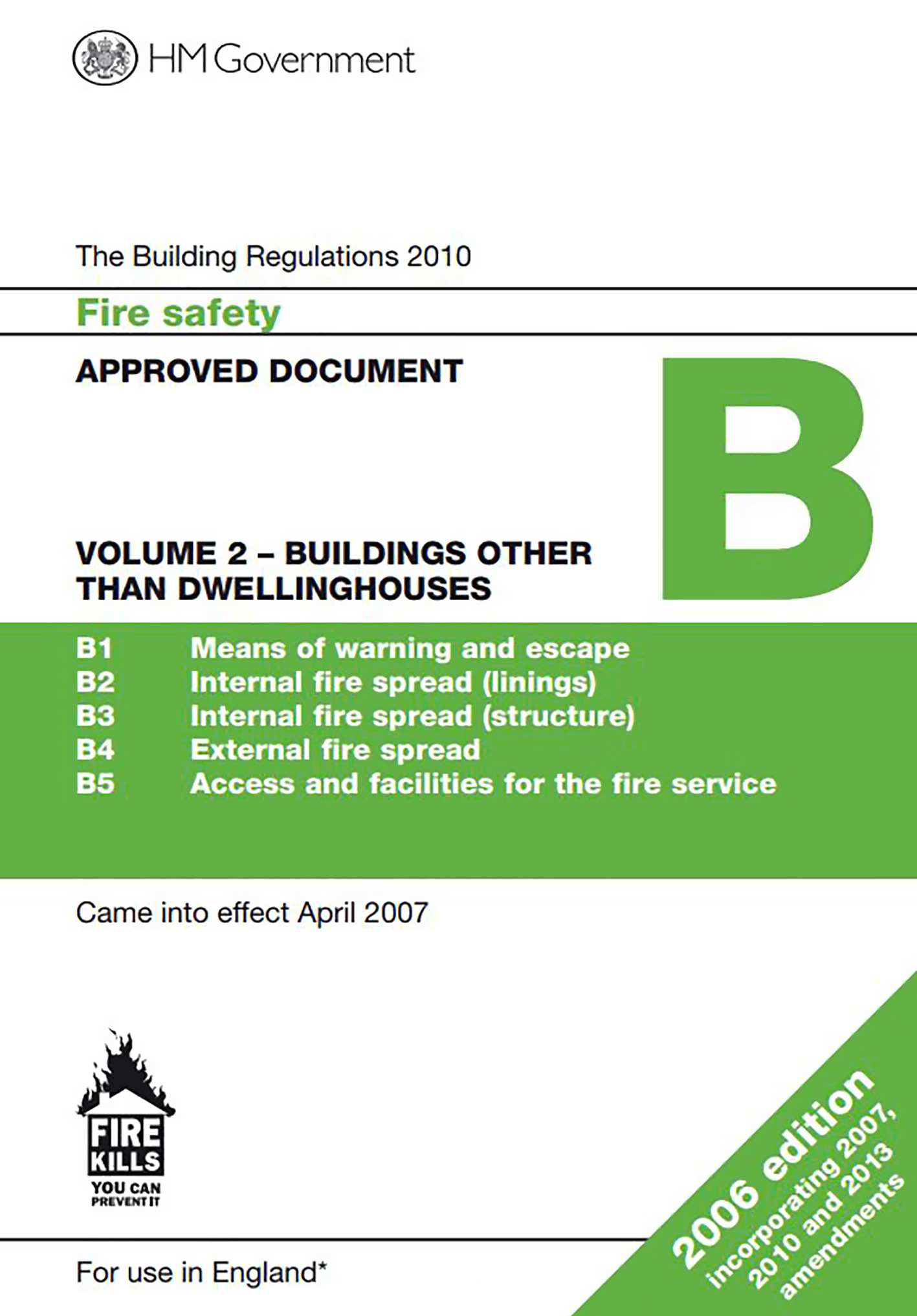 The current version of Approved Document B