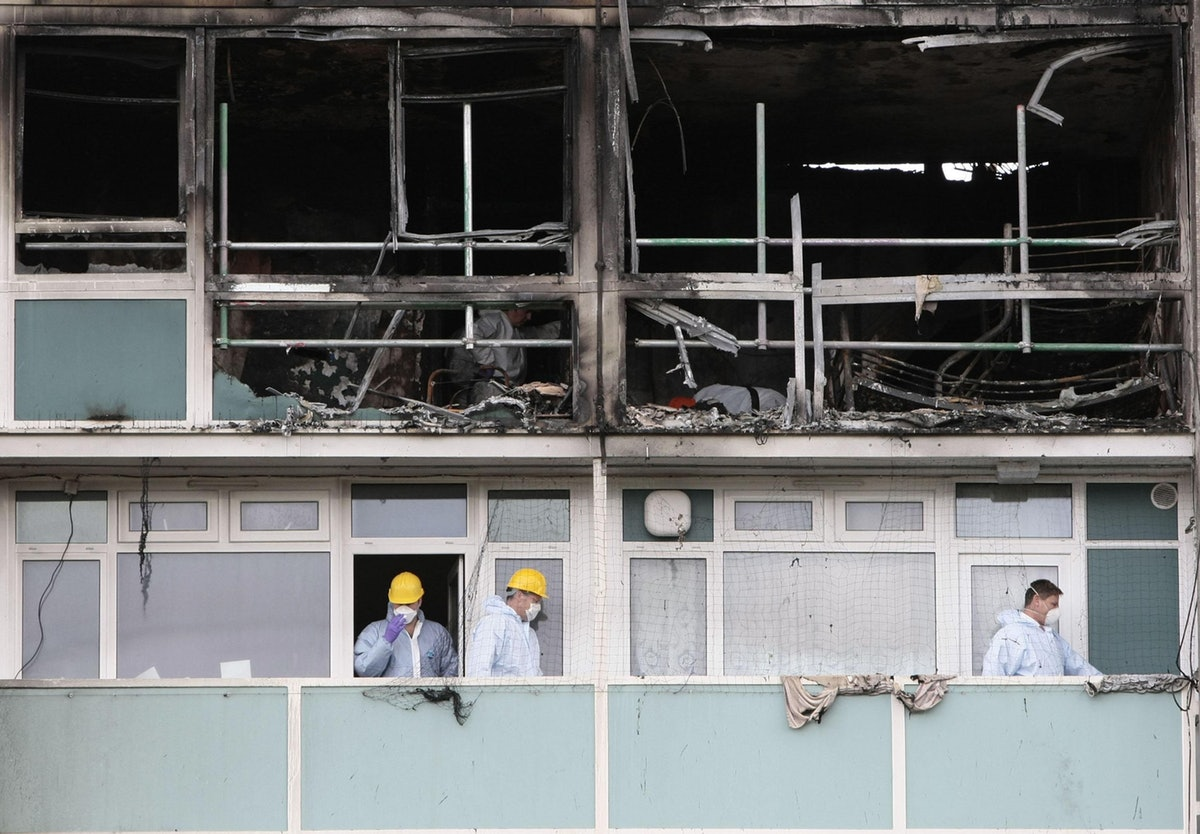 Lakanal House after the fire, pic: Press Association