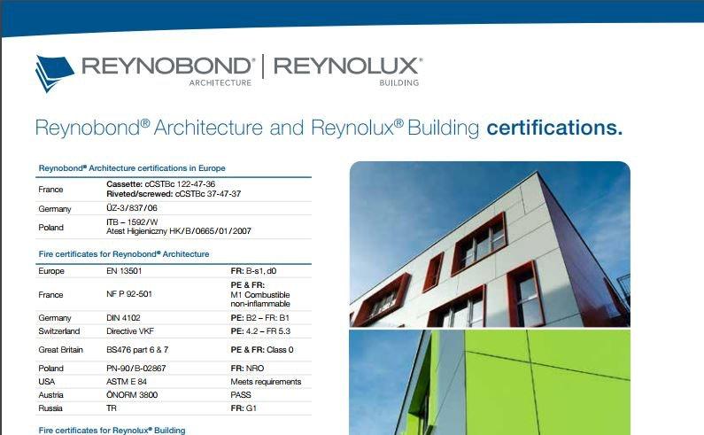 The Reynobond document
