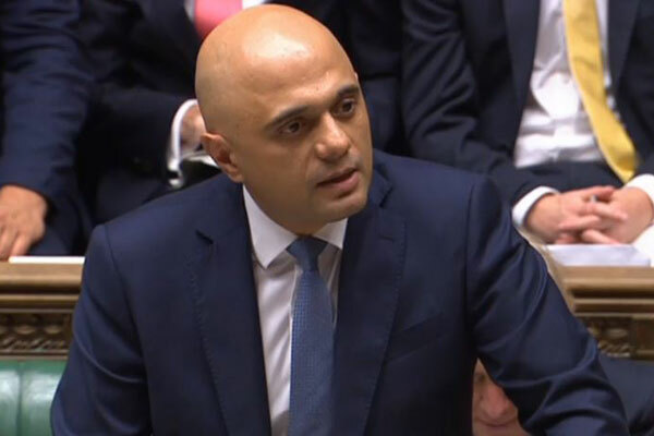 Sajid Javid was the first secretary of state to grapple with the cladding crisis (picture: Parliament TV)