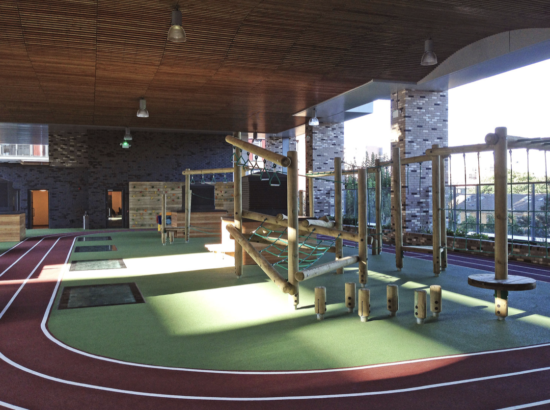 Play area at Holy Trinity School by Rock Townsend