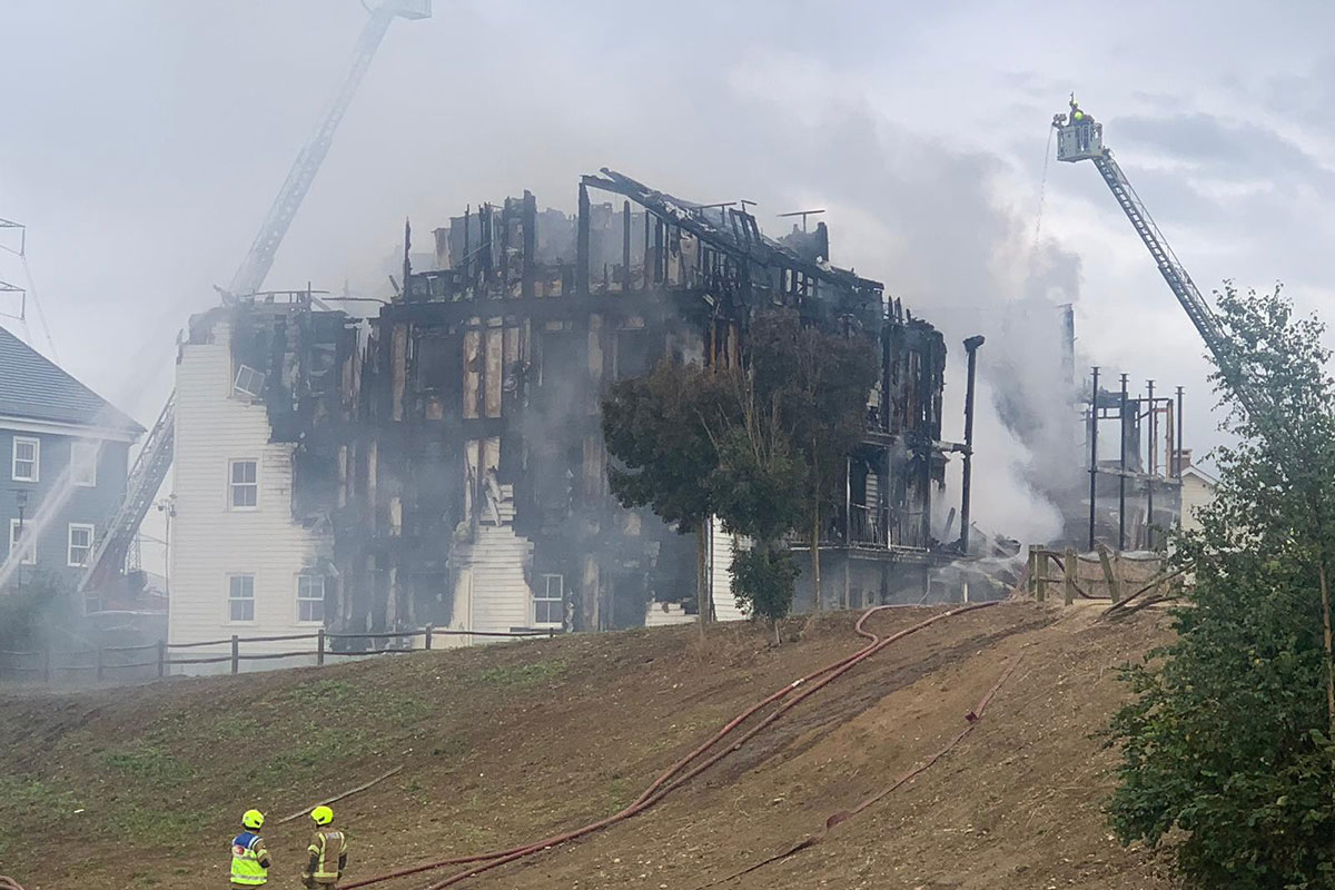 Worcester Park fire: building involved in major blaze was owned by Metropolitan Thames Valley