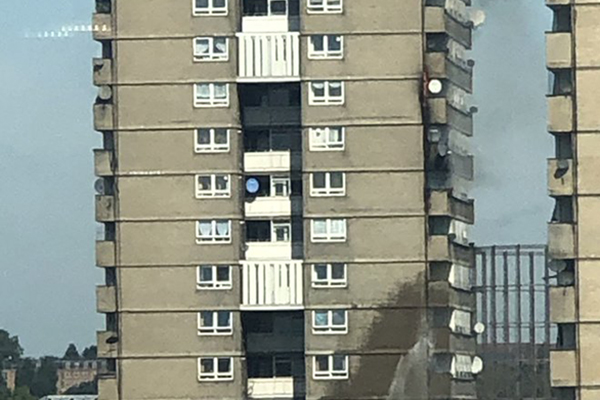 70 firefighters attend blaze at tower block close to Grenfell